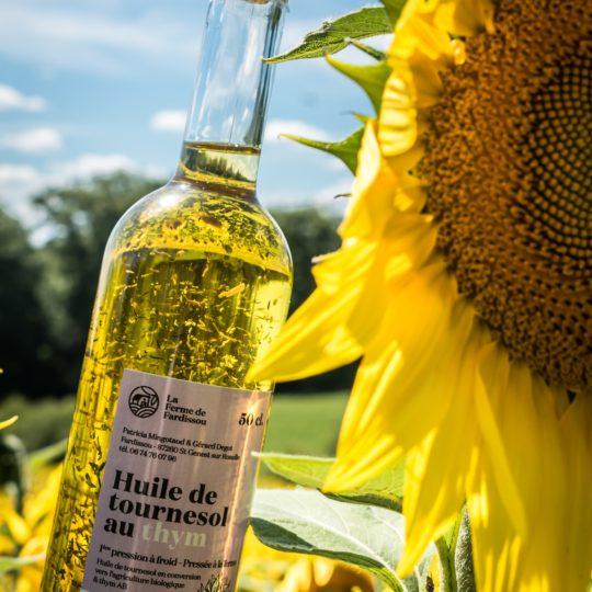 huile de tournesol aromatisée en conversion AB