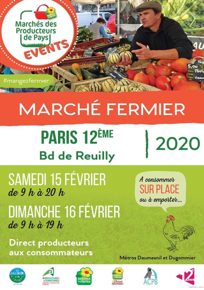 1er marché de l'année, à Paris