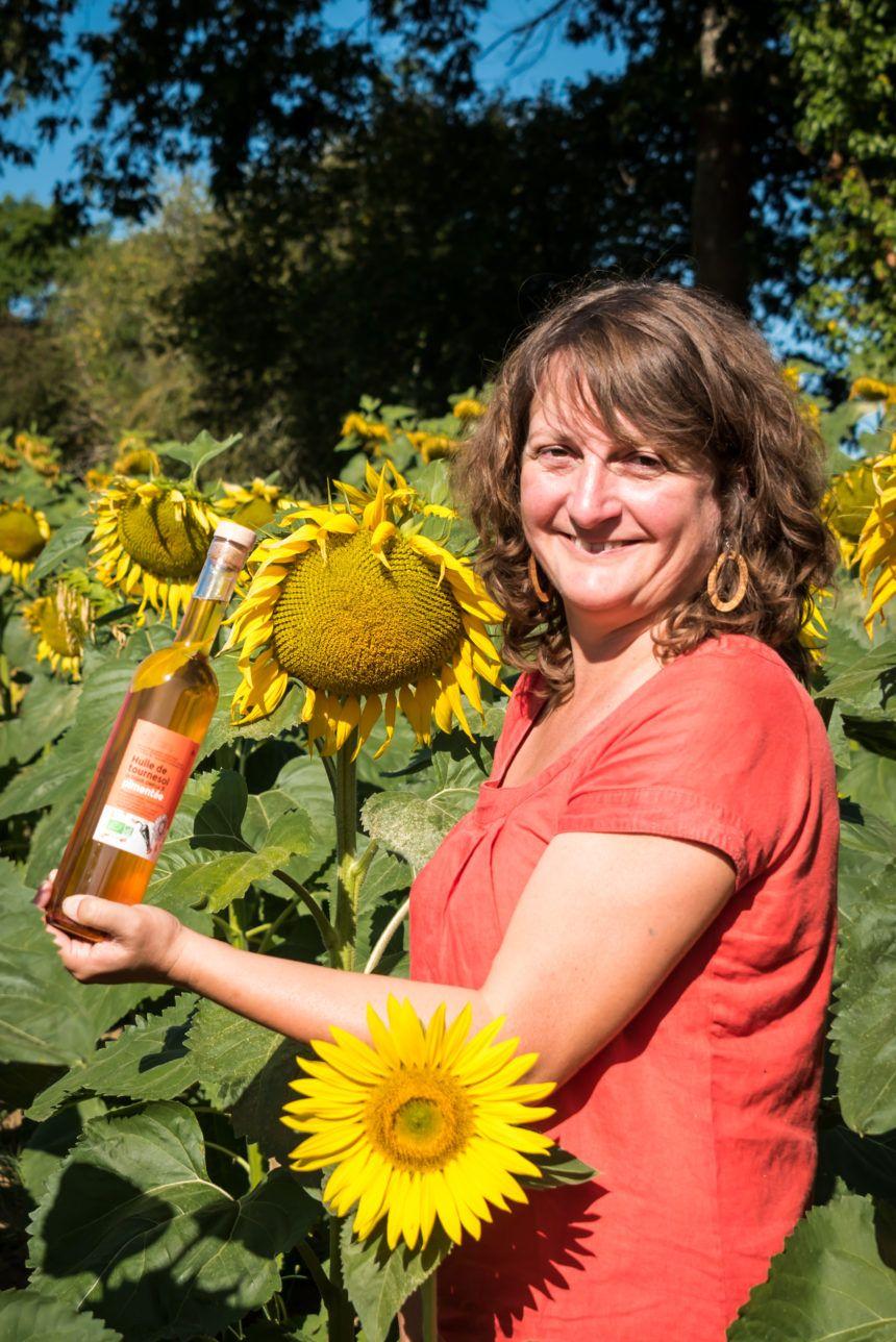 Nouveauté de cette année, l'huile de tournesol pimentée bio