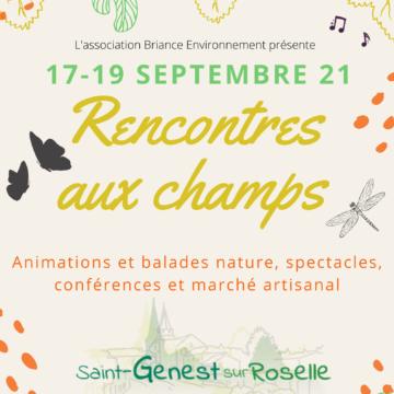 Les Rencontres aux Champs de St Genest sur Roselle